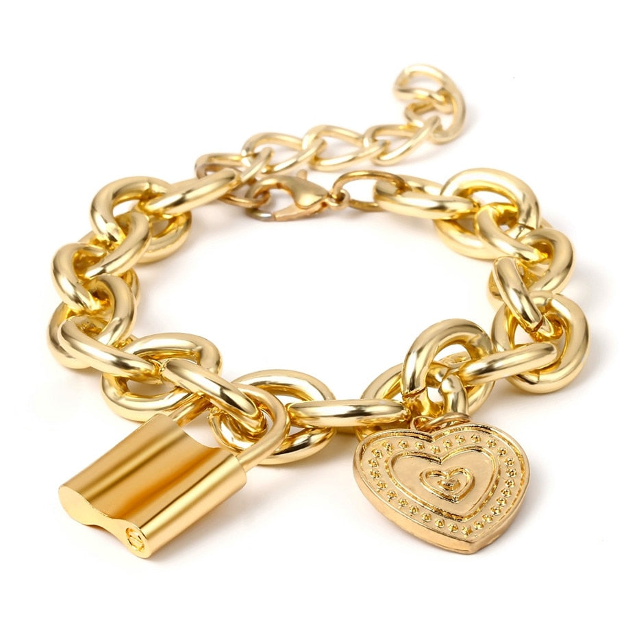 Lover's Lock Charm Bracelet - Bonny Planet