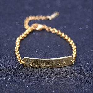 Adjustable Engraved Name Bracelet - Bonny Planet