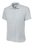 Uneek Classic Polo Shirt Heather Grey UC101