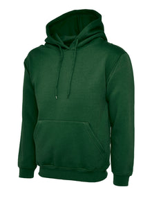 Uneek Classic Hooded Sweatshirt Bottle Green UC502