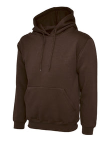 Uneek Classic Hooded Sweatshirt Brown UC502