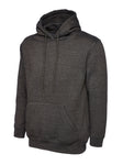Uneek Classic Hooded Sweatshirt Charcoal UC502