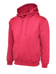 Uneek Classic Hooded Sweatshirt Hot Pink UC502