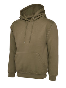 Uneek Classic Hooded Sweatshirt Military Green UC502