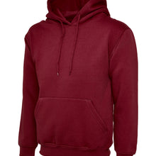 Uneek Classic Hooded Sweatshirt Maroon UC502