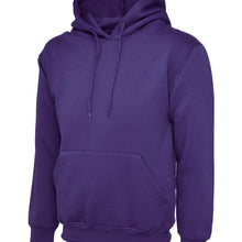Uneek Classic Hooded Sweatshirt Purple UC502