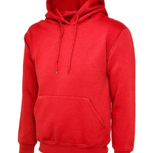 Uneek Classic Hooded Sweatshirt Red UC502