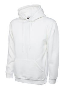Uneek Classic Hooded Sweatshirt White UC502