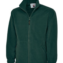 Uneek Classic Full Zip Fleece Jacket Bottle Green UC604