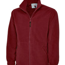 Uneek Classic Full Zip Fleece Jacket Maroon UC604