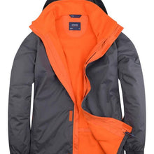 Uneek Deluxe Outdoor Jacket Grey Orange UC621