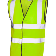 Uneek Hi Viz Sleeveless Safety Waist Coat Yellow UC801