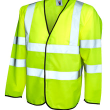 Uneek Hi Vis Long Sleeve Safety Waist Coat Yellow UC802