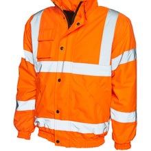 Uneek High Visibility Bomber Jacket Orange UC804