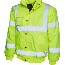 Uneek High Visibility Bomber Jacket Yellow UC804