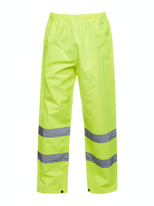 Uneek Hi Vis Safety Over Trousers Yellow UC807