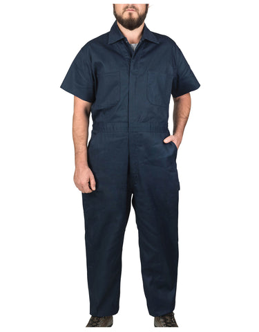 Walls Taft Work Poplin Coverall: MENS COVERALLS - NAVY: 1216NA9