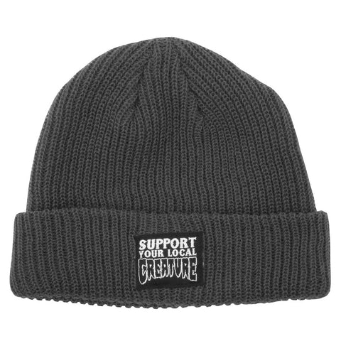 Creature Support Beanie Long Shoreman Hat Charcoal 44441151