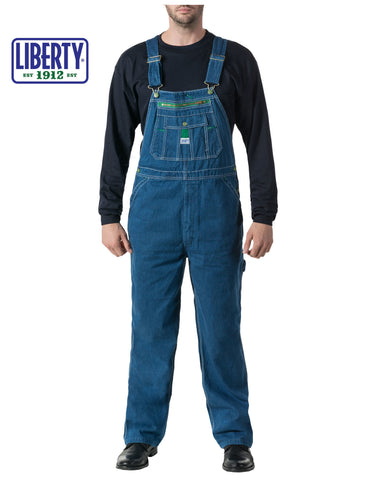 Liberty® Denim Bib Overall: MENS BIB OVERALLS - STONE WASHED: 14006SW9