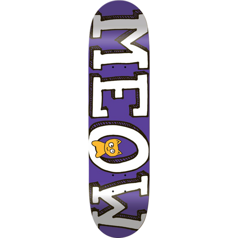 MEOW LOGO Deck 8.0 PURPLE