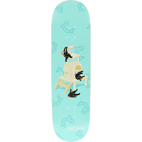 MEOW CAT MEOWNTAIN Deck 8.0 TEAL