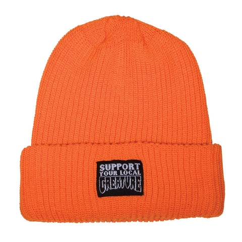 Creature Support Beanie Long Shoreman Hat Safety Orange 44441151