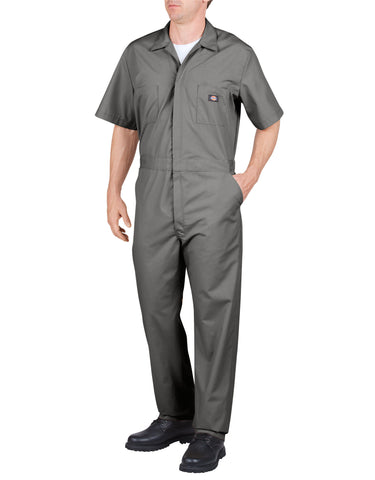 Dickies S/S Poplin Coverall: MENS COVERALLS - GRAY: 33999GY