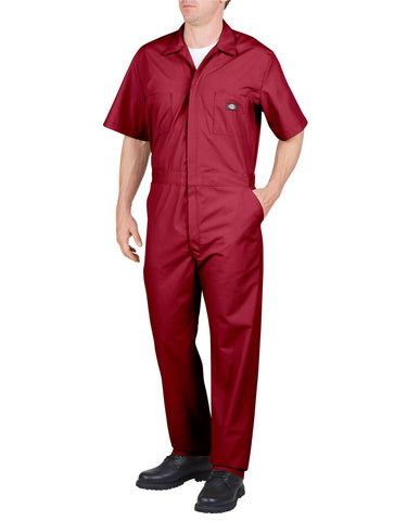 Dickies S/S Poplin Coverall: MENS COVERALLS - RED: 33999RD