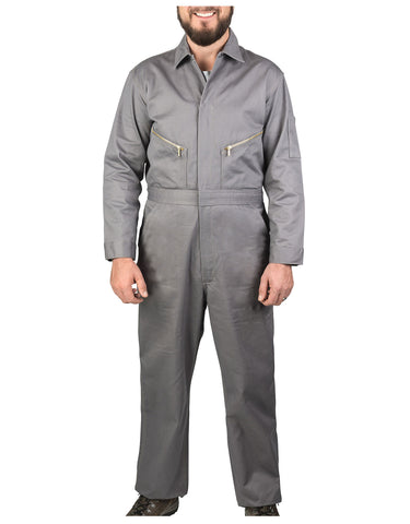 Walls Taylor Work Twill Coverall: MENS COVERALLS - GRAY: 5515GY9