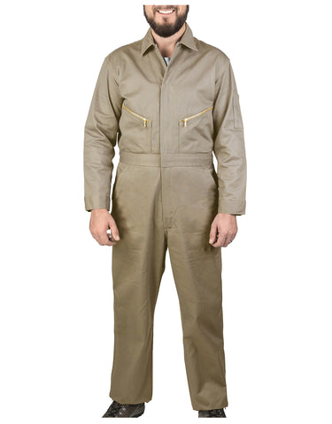 Walls Taylor Work Twill Coverall: MENS COVERALLS - KHAKI: 5515KH9