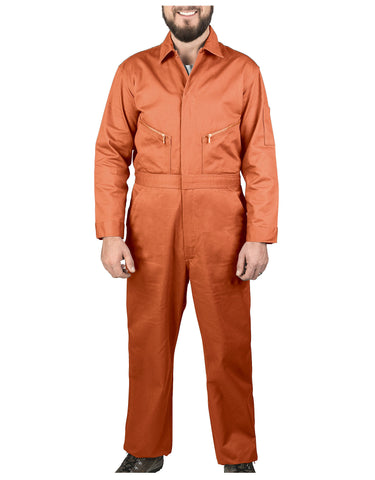 Walls Taylor Work Twill Coverall: MENS COVERALLS - ORANGE: 5515OG9