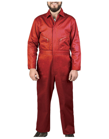 Walls Taylor Work Twill Coverall: MENS COVERALLS - SAFETY RED: 5515R29
