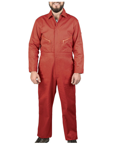 Walls Taylor Work Twill Coverall: MENS COVERALLS - HALIBURTON RED: 5515RD9