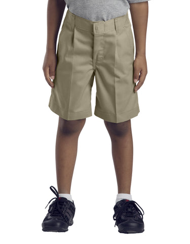 Dickies Boys Pleated Front Short (Sizes 4 - 7): BOYS SHORTS - KHAKI: 57362KH
