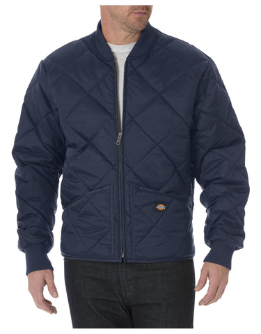 Dickies Diamond Quilted Nylon Jacket: MENS JACKETS - DARK NAVY: 61242DN