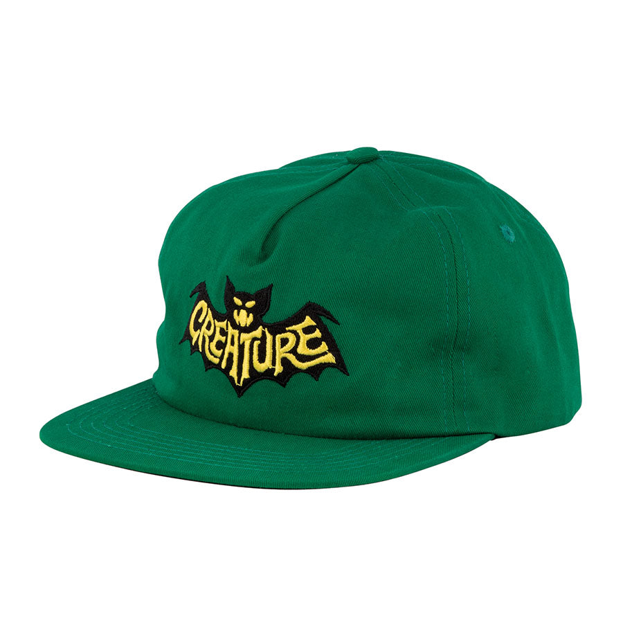 Creature Batty Snapback Hat Dark Green 44441764 – Concrete Lodge aed02f73f79