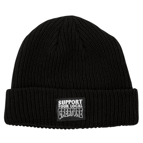 Creature Support Beanie Long Shoreman Hat Black 44441151