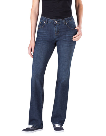 Dickies Womens Relaxed Straight Leg Jean: WOMENS JEANS - ANTIQUE DARK 1: FD136ATD1