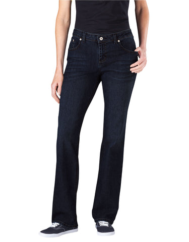 Dickies Womens Relaxed Straight Leg Jean: WOMENS JEANS - DARK STONE WASH: FD136DSW