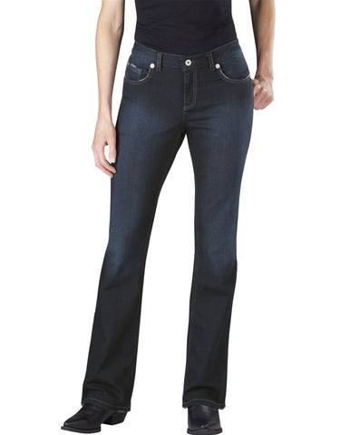 Dickies Womens Slim Boot Cut Jean: WOMENS JEANS - ANTIQUE DARK 1: FD137ATD1