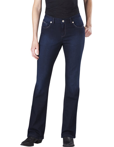 Dickies Womens Slim Boot Cut Jean: WOMENS JEANS - VINTAGE DARK 1: FD137VND1