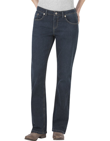 Dickies Womens Relaxed Boot Cut Jean: WOMENS JEANS - ANTIQUE DARK 1: FD138ATD1