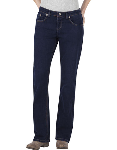 Dickies Womens Relaxed Boot Cut Jean: WOMENS JEANS - DARK STONE WASH: FD138DSW