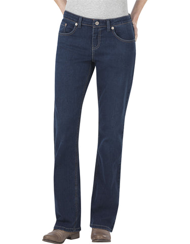 Dickies Womens Relaxed Boot Cut Jean: WOMENS JEANS - MEDIUM STONEWASH: FD138MSW