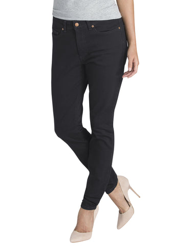 Dickies Womens Skinny Denim Jean: WOMENS JEANS - RINSED BLACK: FD145RBK