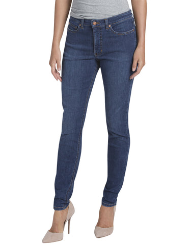 Dickies Womens Skinny Denim Jean: WOMENS JEANS - STONEWASHED INDIGO BLUE: FD145SNB