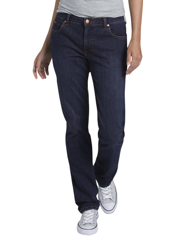 Dickies Womens Straight Leg Denim Jean: WOMENS JEANS - RINSED INDIGO BLUE: FD146RNB