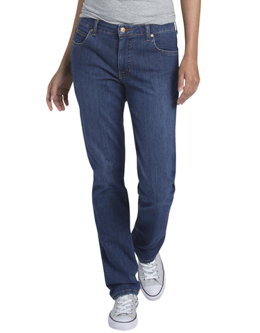 Dickies Womens Straight Leg Denim Jean: WOMENS JEANS - STONEWASHED INDIGO BLUE: FD146SNB