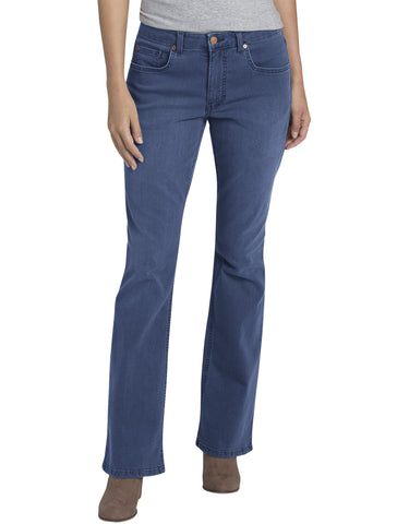 Dickies Womens Bootcut Denim Jean: WOMENS JEANS - STONEWASHED INDIGO BLUE: FD147SNB