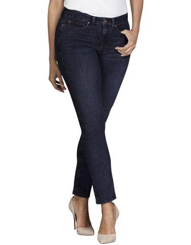 Dickies Womens Curvy Skinny Denim Jean: WOMENS JEANS - RINSED INDIGO BLUE: FD148RNB
